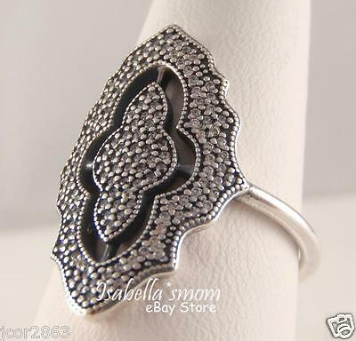 f41c747fbc2 SPARKLING LACE 100% Authentic PANDORA Sterling Silver STATEMENT Ring 8.5/58  NEW