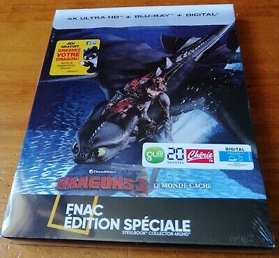 Dragons 3 How to Train Your  Steelbook Edition Spéciale Fnac Blu-ray 4K Ultra HD