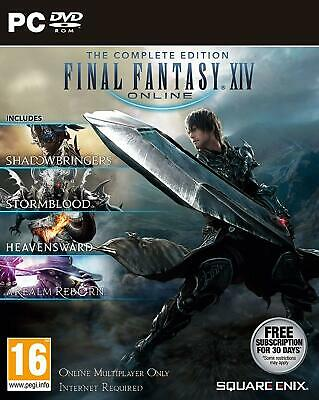 Final Fantasy XIV: The Complete Collection (PC-DVD) BRAND NEW SEALED