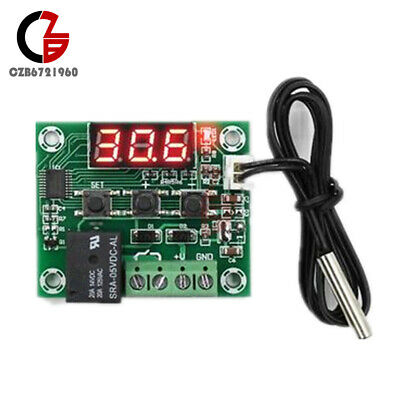 W1209 LED Red DC 5V Thermostat Temperature Switch Thermometer Controller Cable