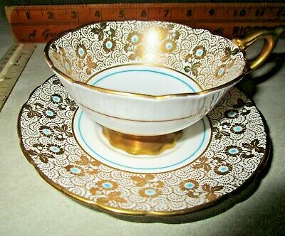 ROYAL STAFFORD Bone China Vintage Tea Cup & Saucer From Hutch kept COLLECTION!
