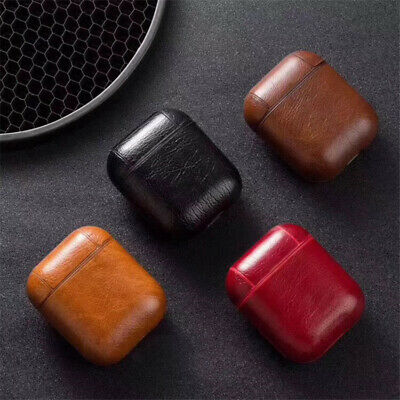 Luxury Genuine Leather Protective Case Cover Skin For Apple AirPod Charging Case