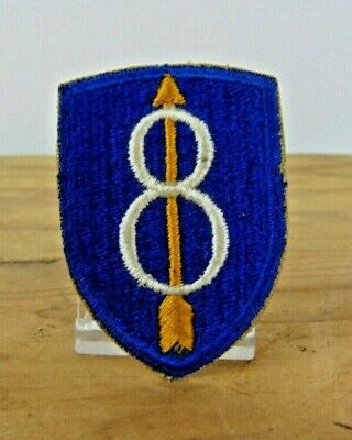 8TH INFANTRY DIVISION WWII WW2 Patch US Army Military