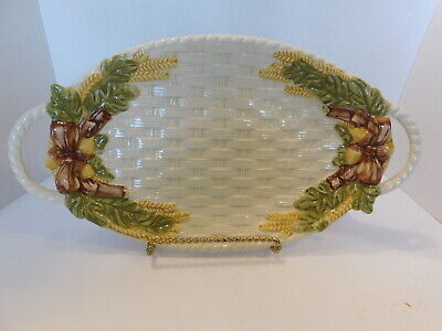 ACORN BASKET WEAVE HANDLED TRAY / PLATTER  by JAY 16""