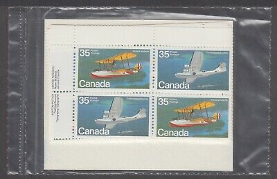 CANADA SEALED PLATE BLOCKS 845-846 35c x 16 AIRCRAFT - FLYING BOATS