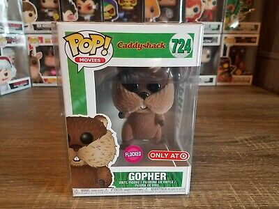 Funko PoP! Caddyshack Gopher #724 Flocked Target Exclusive with Pop Protector!