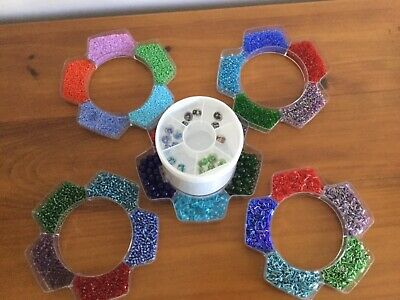 Stackable Beading Container Including Beads