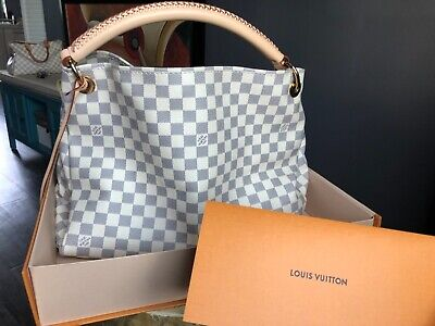 USED 1x ONLY - 100% AUTHENTIC Louis Vuitton Artsy MM Large Damier Azur Hobo Tote