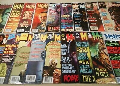 Lot of 18 Monster Movie Magazines Forrest J Ackerman Monsterland Bash Godzilla