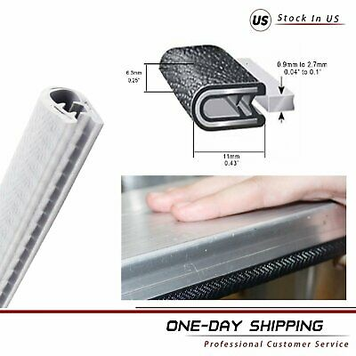 Pinch Weld Rubber Seal Strip Trim Car Door Lip Window Edge Waterproof Guard 20FT