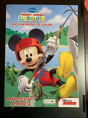 Disney Mickey Mouse Clubhouse Big Fun Book To Color, Adventure Ahead!, New Kids