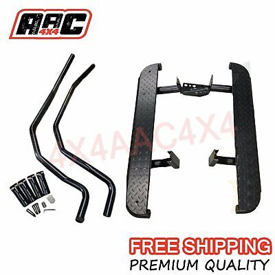 Heavy Duty Side Steps, Brush Rail Bars to suit Toyota Hilux 2005-2014 Single Cab