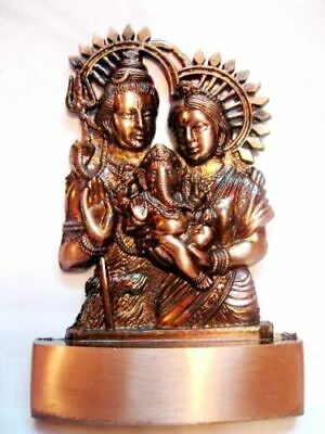 Shiva Shiv Parivar Brass Plated Statue Idol ~ Hindu God Statue~ For Prosperity