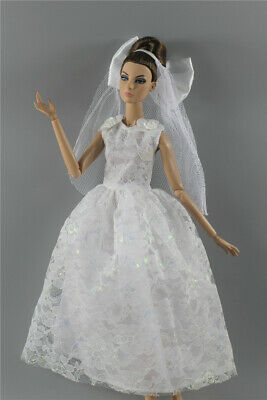 Fashion Royalty Princess Dress/Clothes/Gown+veil For 11.5 in. Doll c47