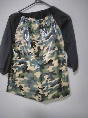 Handmade Kids   camo  Art Smock Boys 4-7 with plastic coating on front