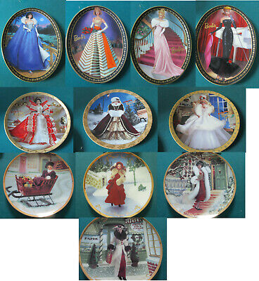 Barbie Collector Plates Holidays Elegance Victorian Pick One