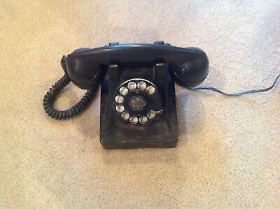 Antique Western Electric Bell Systems Black Rotary Dial Telephone