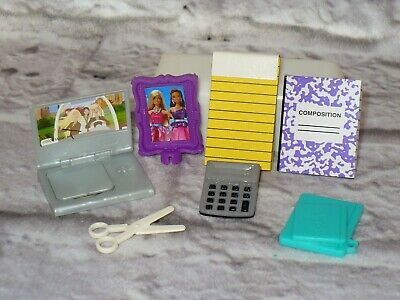 Barbie Doll OFFICE SCHOOL ACCESSORIES LOT Accessory Replacement REAL PAPER!