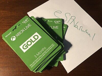3 Month Xbox Live Gold Membership Card - INSTANT DELIVERY