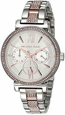 fa47f6920 Michael Kors Womens Sofie Quartz Watch Steel-Plated Strap Two Tone/White 14