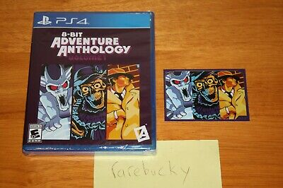 8-Bit Adventure Anthology (PS4) NEW SEALED w/CARD, LIMITED RUN #182 MINT & RARE!