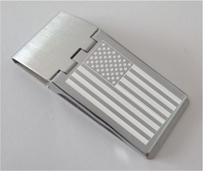 Clip banknotes engraved with flags (USA, UK, Canada...)