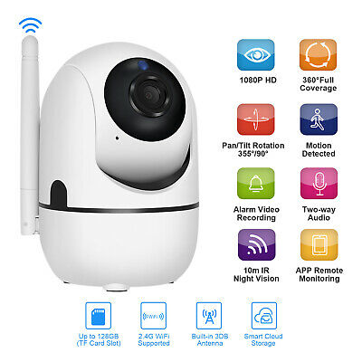 Wireless WiFi IP Security Camera 1080P Indoor Home CCTV System Baby/Pet Monitor