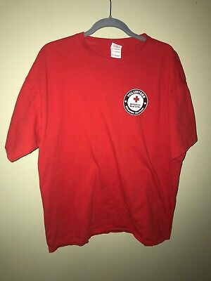 Pre-owned ~ American Red Cross Volunteer Disaster Services Tee Shirt (XL, Red)