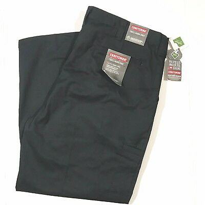 Stain Resistant Retai $42 Water NWT  Craftsman Twill Work Pant Black New Oil