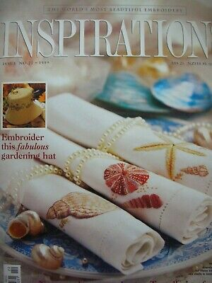 INSPIRATIONS No.22 - BEAUTIFUL EMBROIDERY - Uncut Patterns still attached - VGC