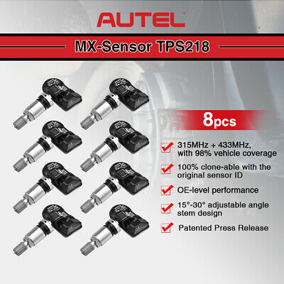 8* Autel TPMS TIRE PRESSURE MONITORING SENSOR 315Mhz 433Mhz 2 in 1 for GM Audi