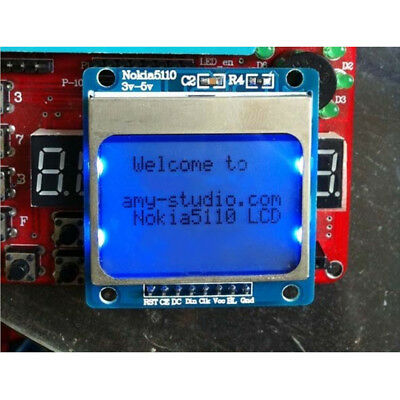 84x48 Nokia LCD Module Blue Backlight Adapter PCB Nokia 5110 LCD For   B $T