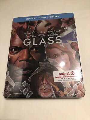 M Night Shyamalan Glass Blu-ray DVD Steelbook Only at Target Brand New & Sealed