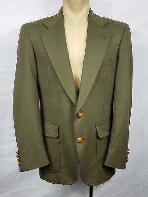 Vtg 50s 60s Mens Pendleton Blazer Jacket army green 100% wool size 42
