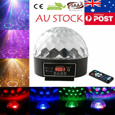 Disco Party DJ LED RGB Stage Effect Light Lamp Laser Crystal Magic Ball AU STOCK