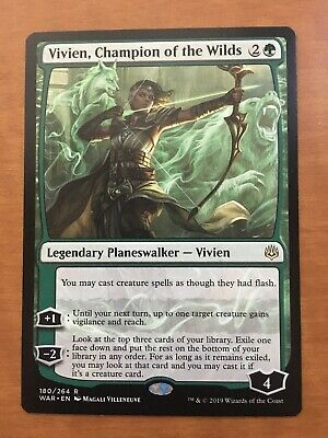 MTG Rare Vivien Champion of the Wilds x 1 NM War of the Spark