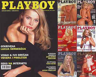 Huge collection of Croatian Playboy Magazines; complete first 9 vintages & more
