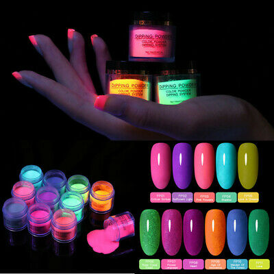BORN PRETTY 10ml Dipping Powder Fluorescence Nail Art Dip Liquid Pro Starter Kit