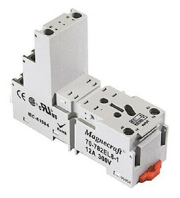 Schneider Electric 70-782EL8-1 Relay Socket 300V use with Various Series - New