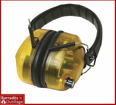 Casque anti-bruit électronique. Protection : SNR 30 dB