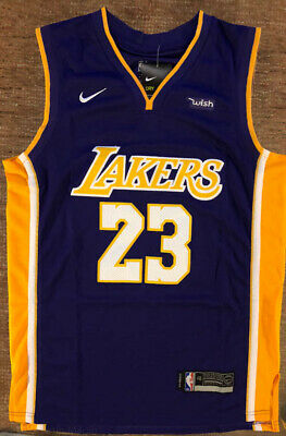 new styles 04636 48503 LEBRON JAMES LOS Angeles Lakers Nike NBA Men's Swingman ...