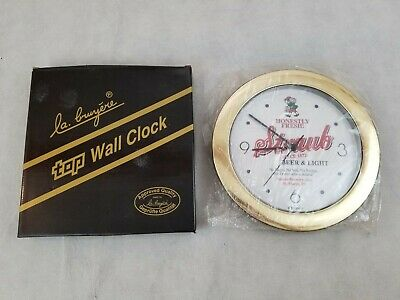 Straub Brewery St. Marys, PA Tops-Quartz Clock Honestly Fresh Bar Fast Ship