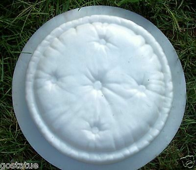 """Pillow stepping stone mold concrete plaster resin plastic mould 12"""" x 2"""" thick"""