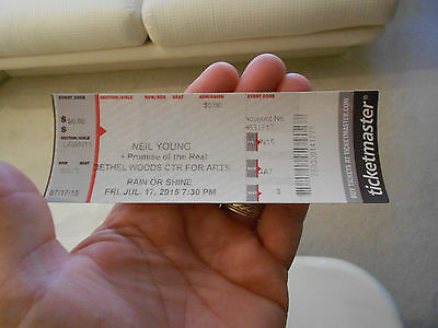 Neil Young Promise Of The Real Full Ticket-2015 Bethel Woods(Woodstock) New York