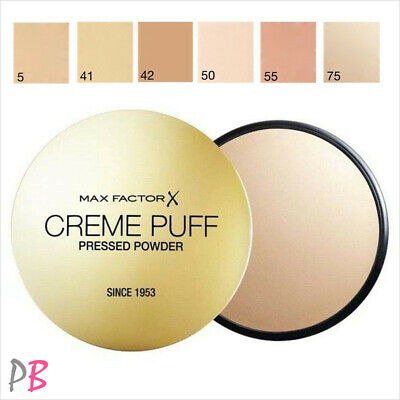 Max Factor Creme Puff Pressed Face Powder Compact 21g - Various Shades