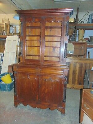 Victorian Hardwood Lining / Bookcase Cupboard Cabinet