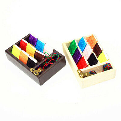 1:12 Miniature sewing kit dollhouse diy doll house decor accessories BX
