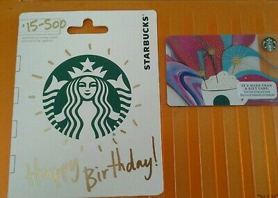 Starbucks Happy Birthday 2016 Gift Card in Hanger, Collectible, Mint #6127