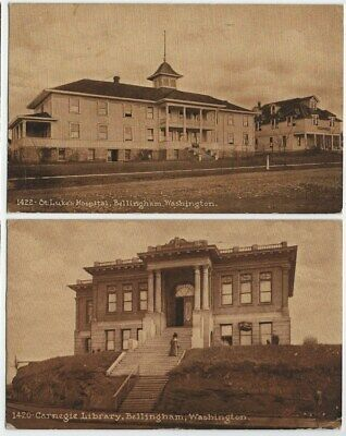 Pair of Building Views, Bellingham, WA, Edward Mitchell, Early 1900's 0610-28