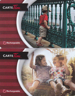 2x TIM HORTONS RECHARGEABLE GIFT CARD 2015 CARTE TIM FRENCH